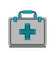 color image cartoon first aid kit with symbol vector image