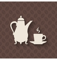 coffee pot and cup on seamless background vector image