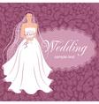 bride with a bouquet vector image