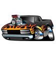 Hot Rod Pickup Truck vector image