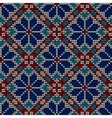 Seamless norwegian embroidered winter pattern vector image vector image