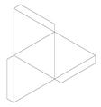 Tetrahedron vector image vector image