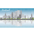 Montreal skyline with grey buildings vector image