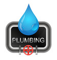 a drop of water and water pipes vector image