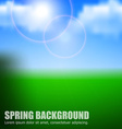 Blurry background spring or summer blue sky with vector image