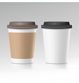 coffee cup take away cafe coffee cup vector image
