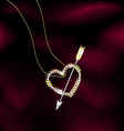 jewelry heart and arrow vector image