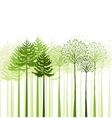 mixed forest vector image