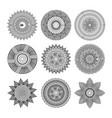 set of mandalas round floral ornament mottifs vector image