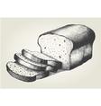 Sketch of sliced bread vector image