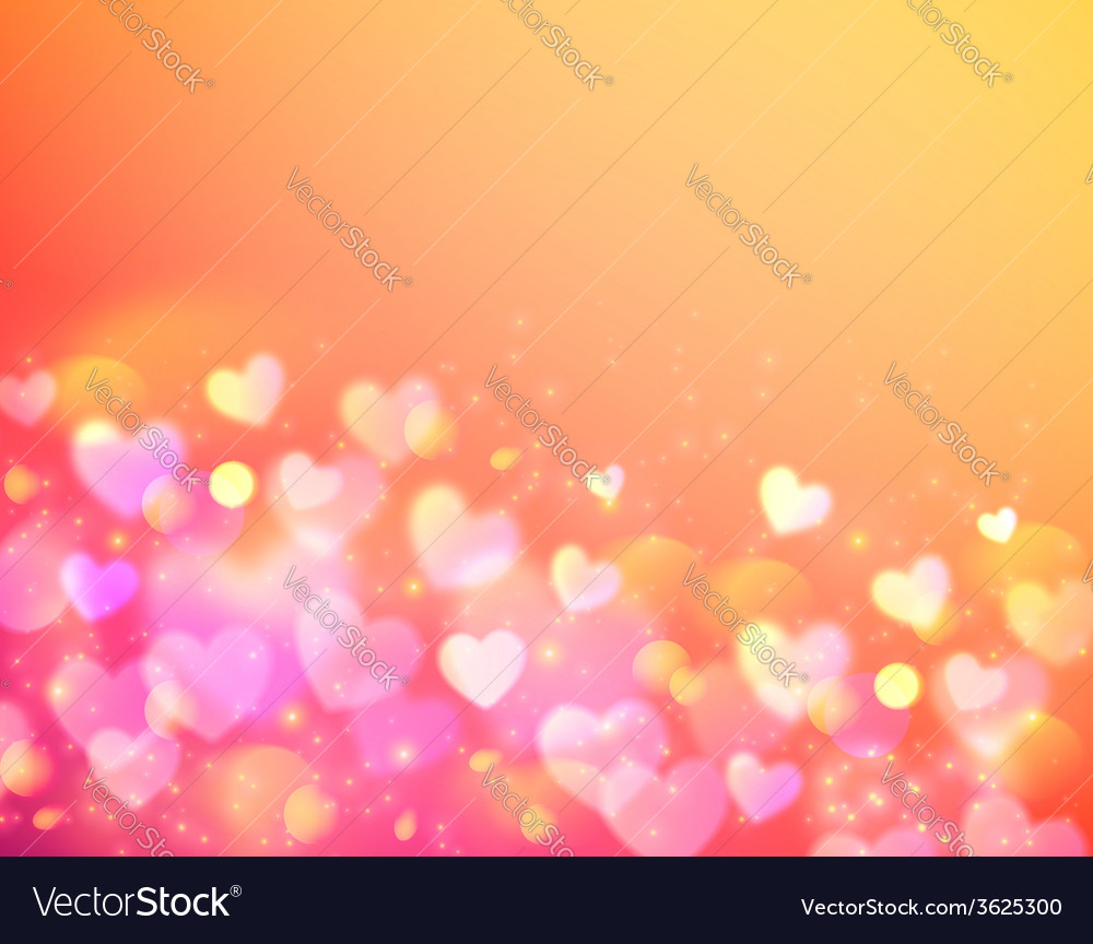 Pink bokeh effect shining background vector