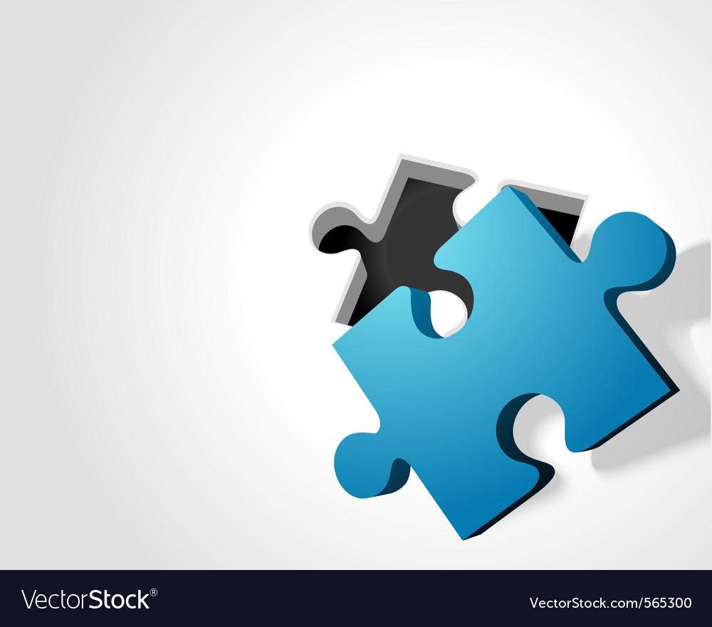 Puzzle perspective background vector