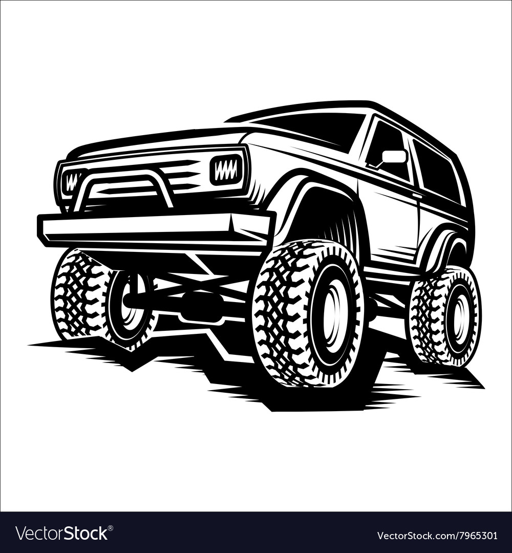 Car offroad 4x4 suv trophy truck vector