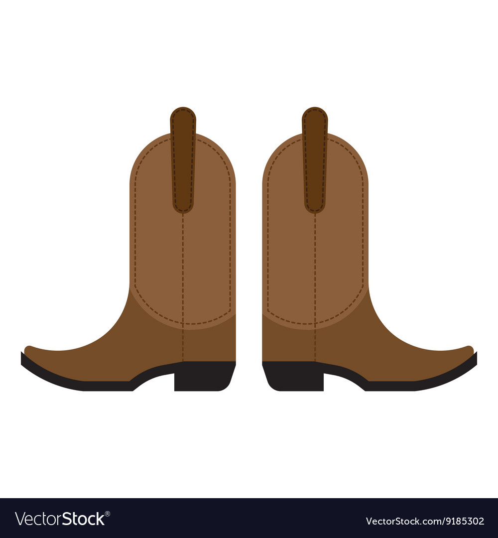 Pair of cowboy boots vector