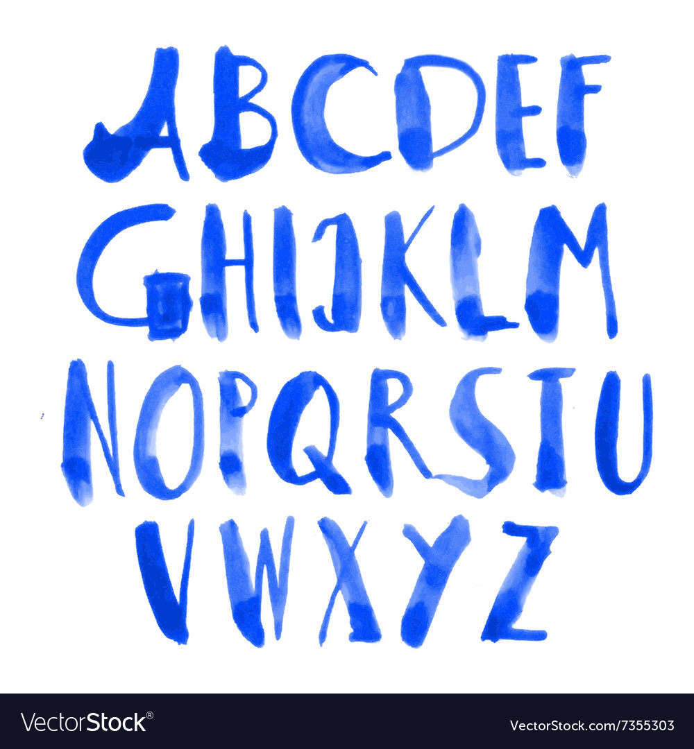 Drawn alphabet vector