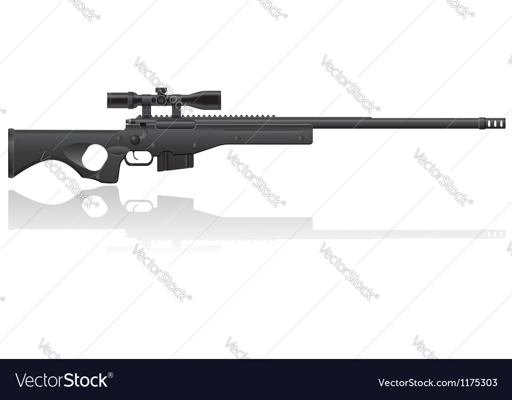 Sniper rifle 02 vector