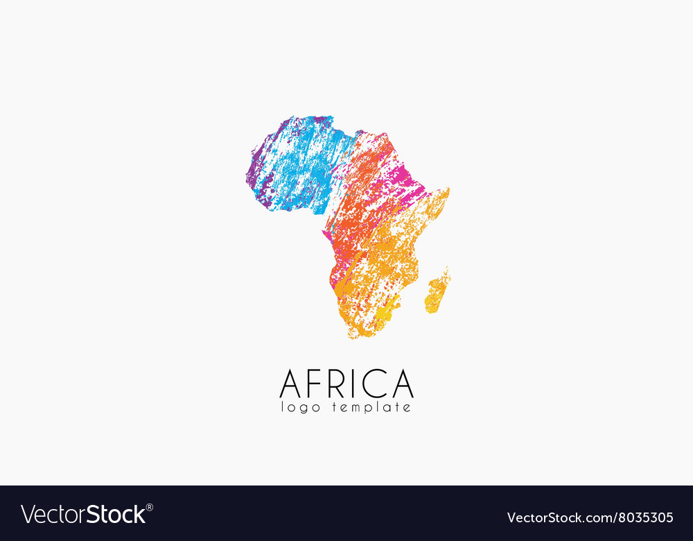 Abstract africa logo color africa logo colorful vector