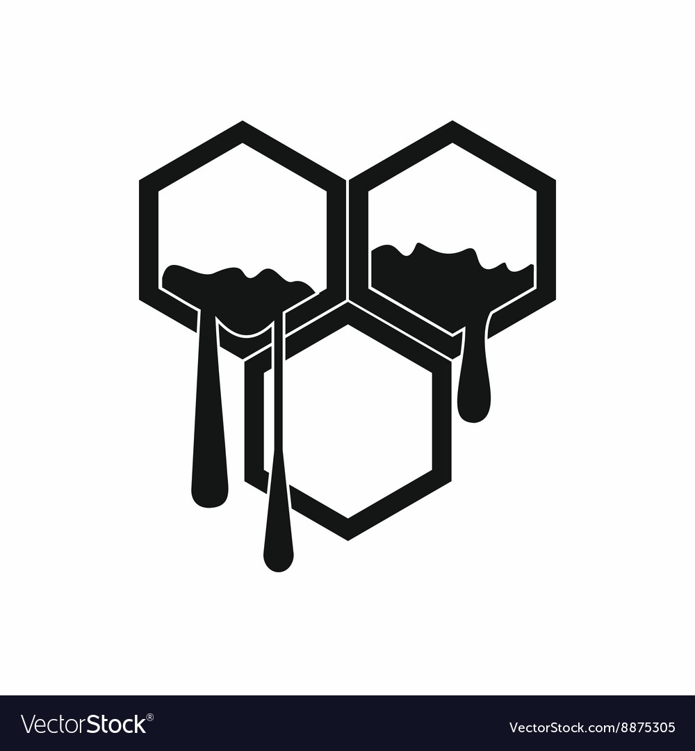 Honeycomb icon in simple style vector