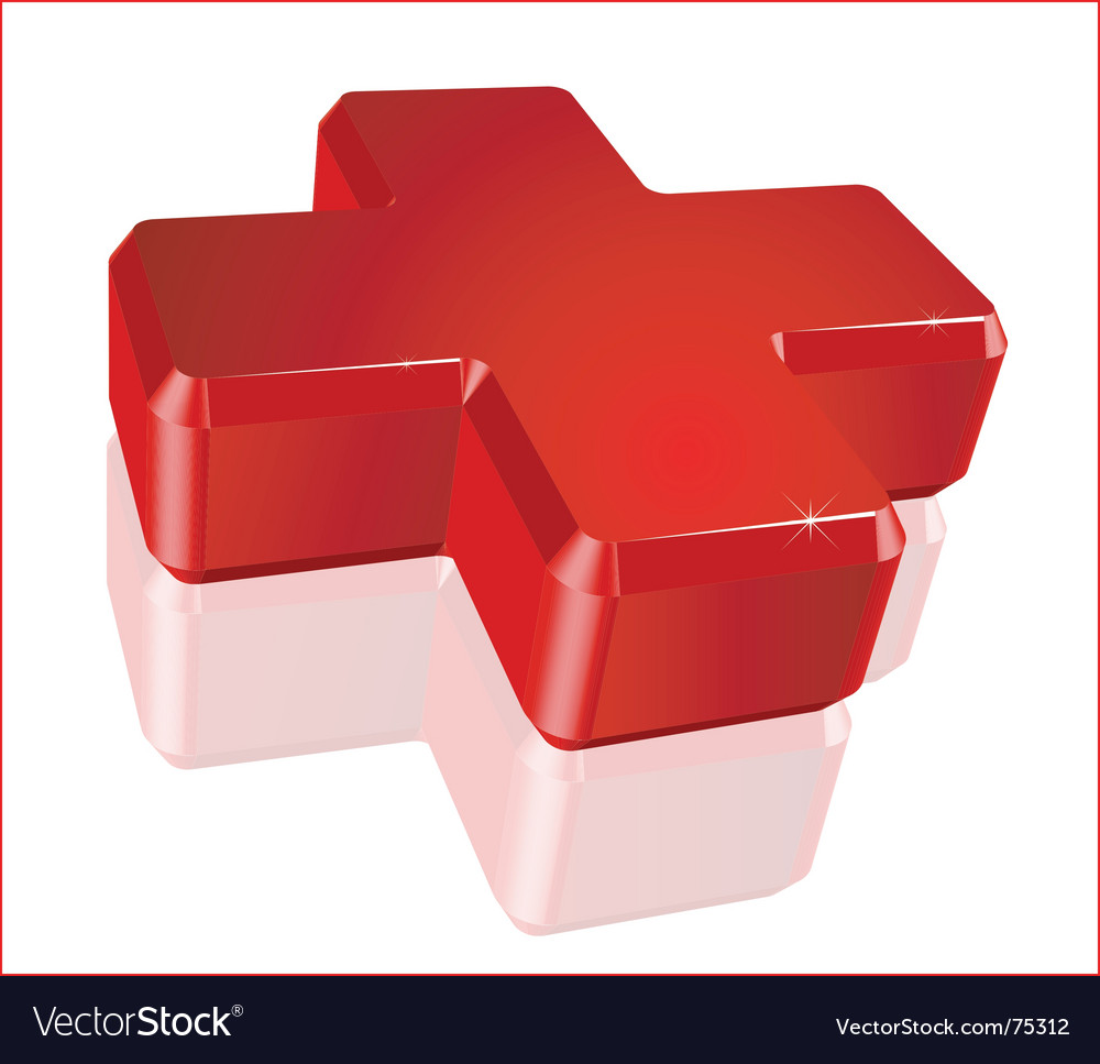 Medical red cross vector