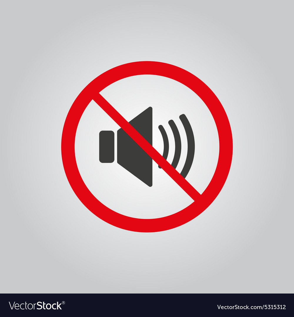 No sound icon volume off symbol flat vector