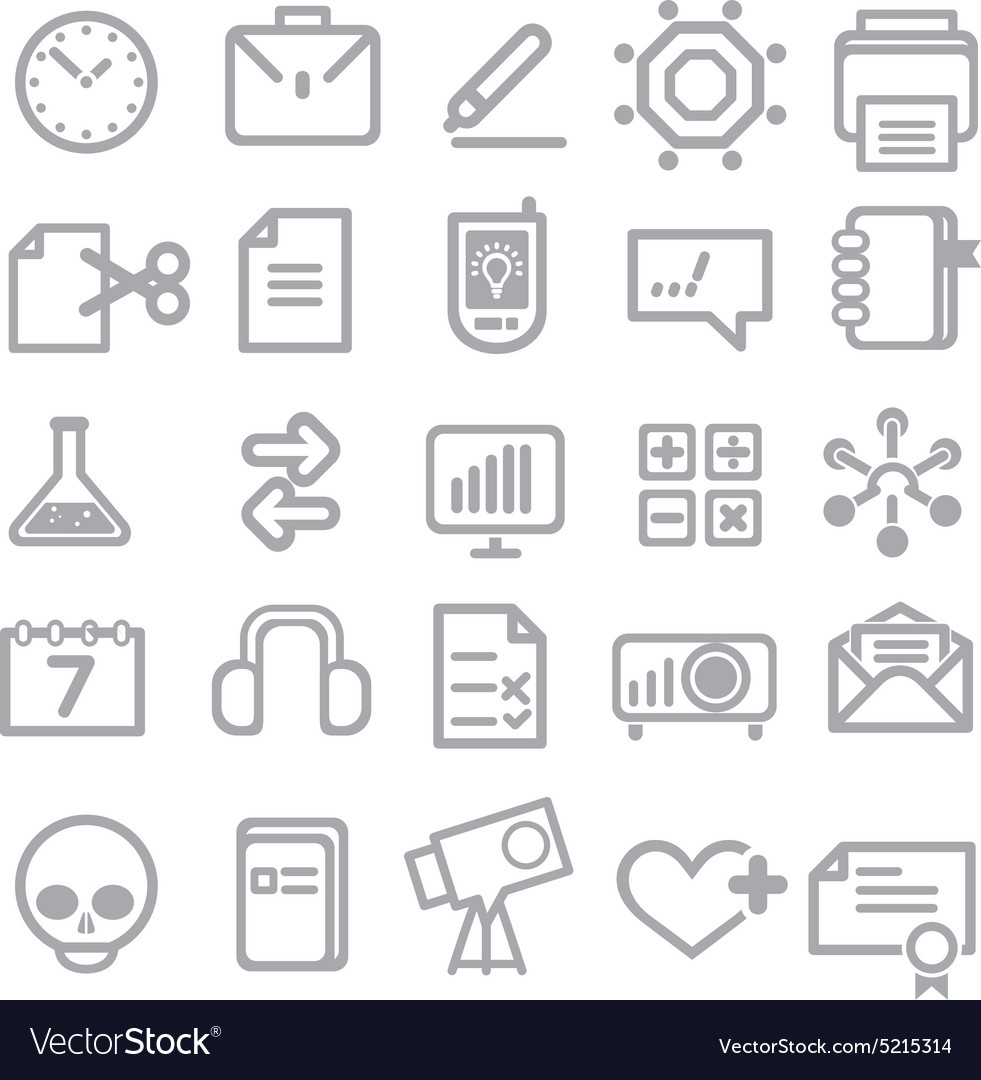 25 school and college icons vector