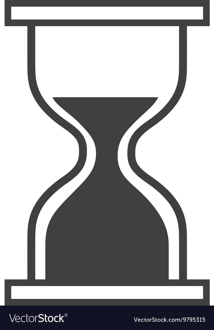 Computer mouse hourglass pointer isolated icon vector