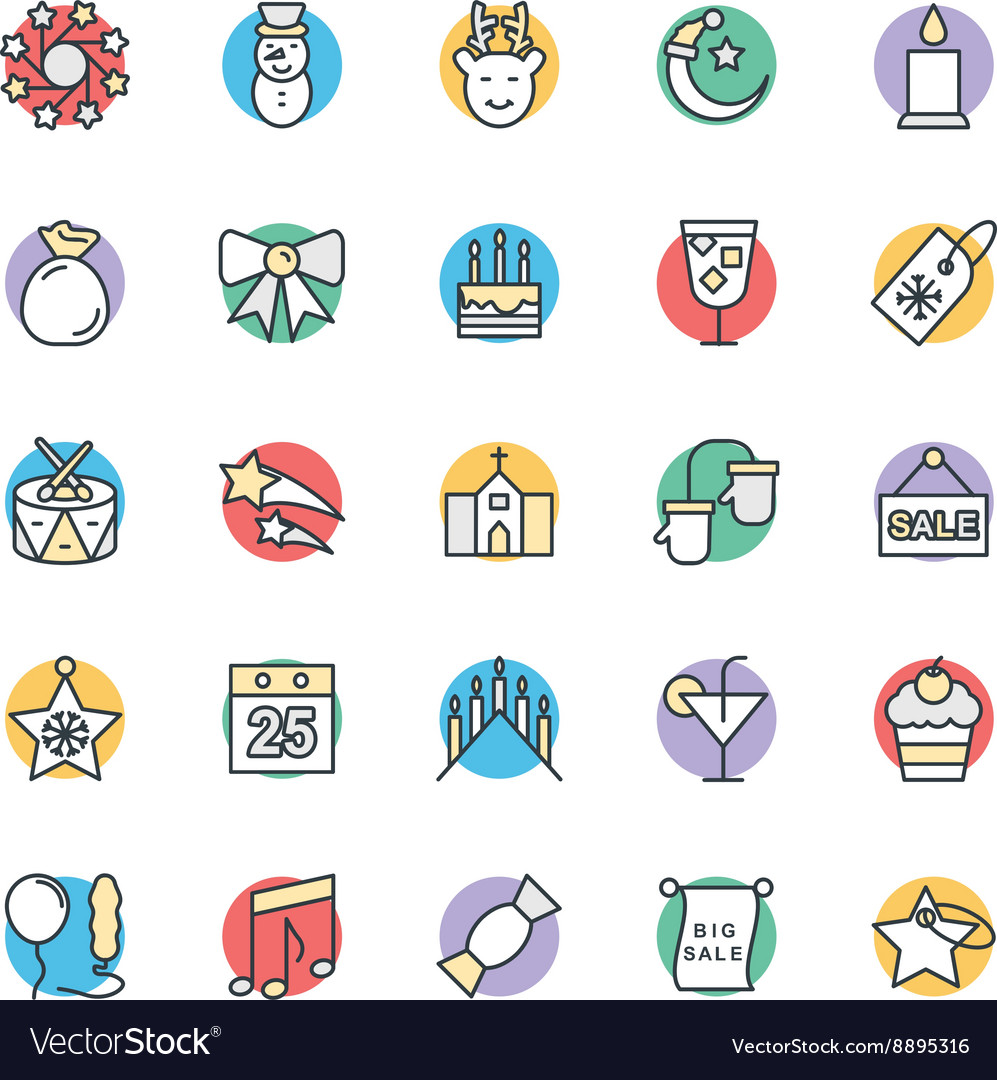 Christmas cool icons 2 vector