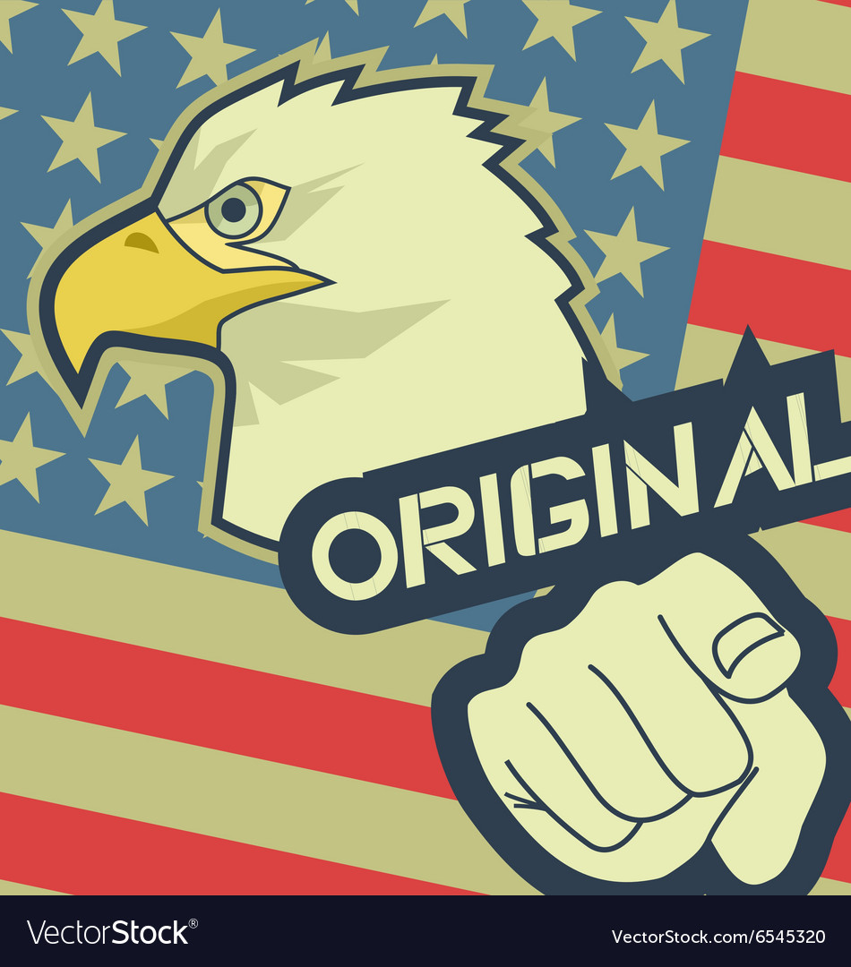 Eagle original america vector
