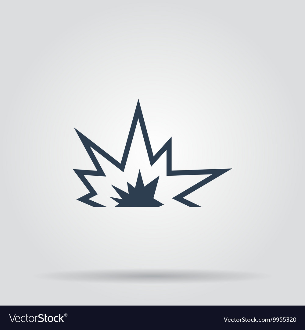Explosion icon concept for vector