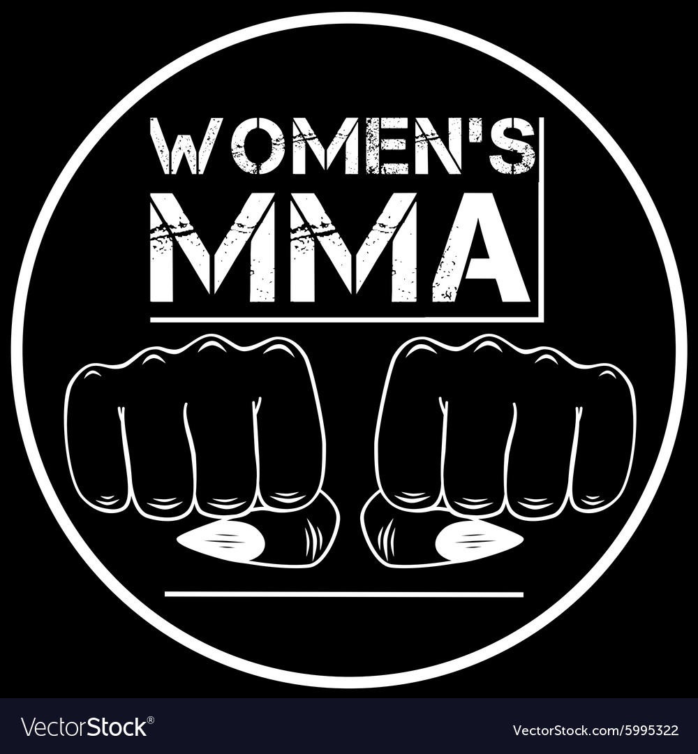 Female mma vector