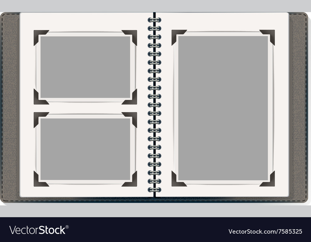 Photo album pages vector
