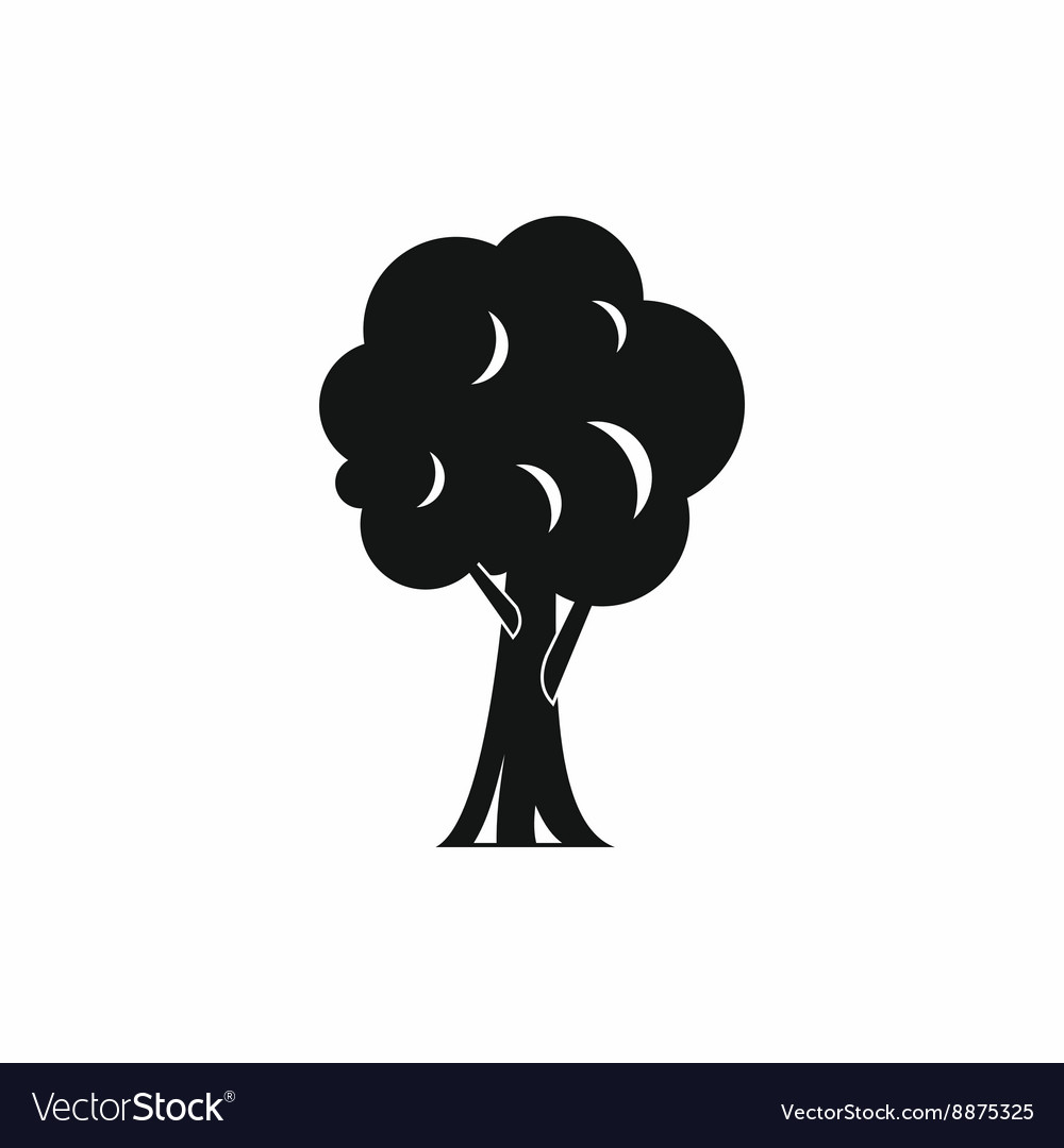 Tree icon in simple style vector