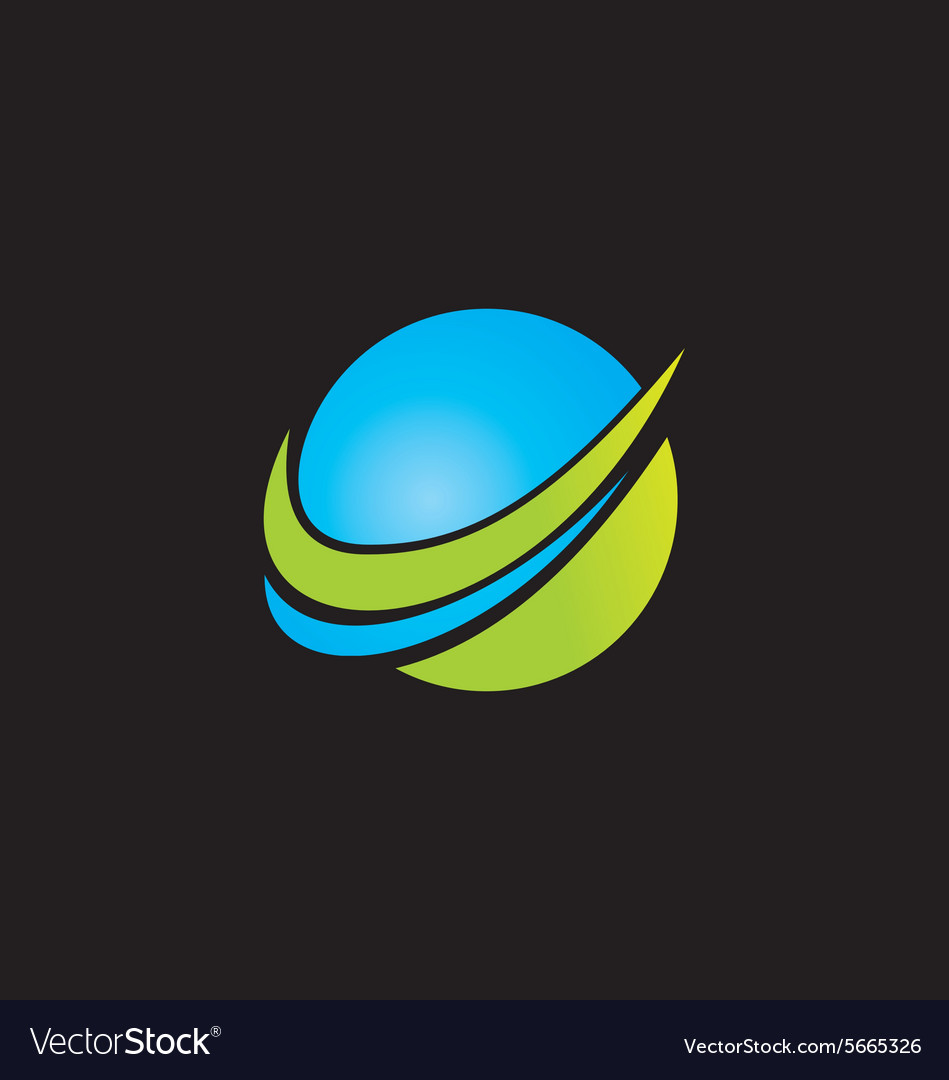 Abstract globe technology logo vector
