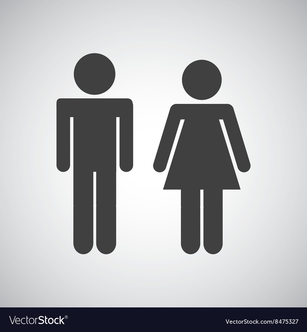 Couple silhouette design vector