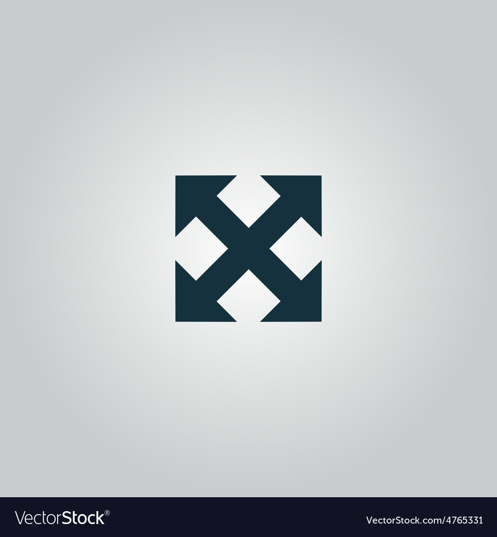 Four sides arrow vector