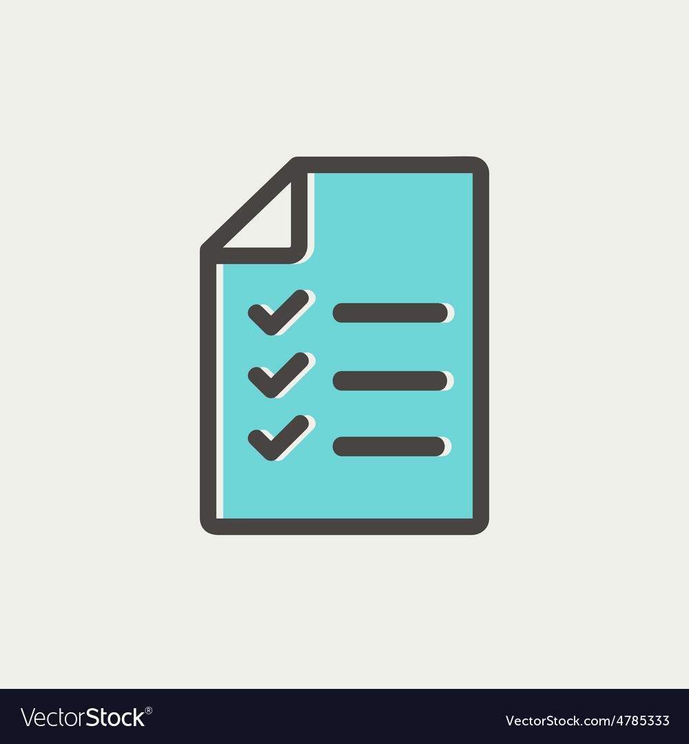 Checklist list thin line icon vector