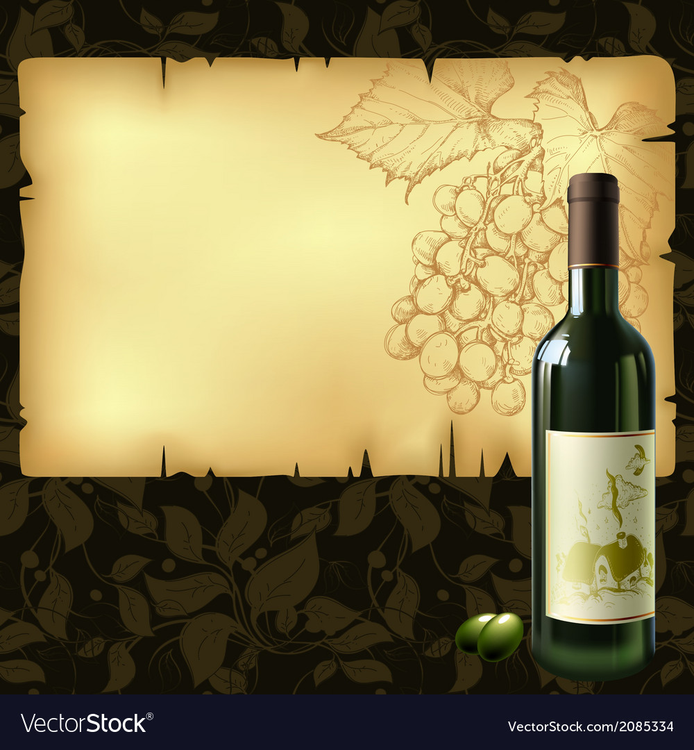 Background with wine vector