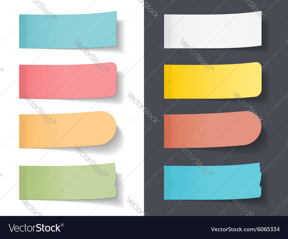 Colored sticky papers vector