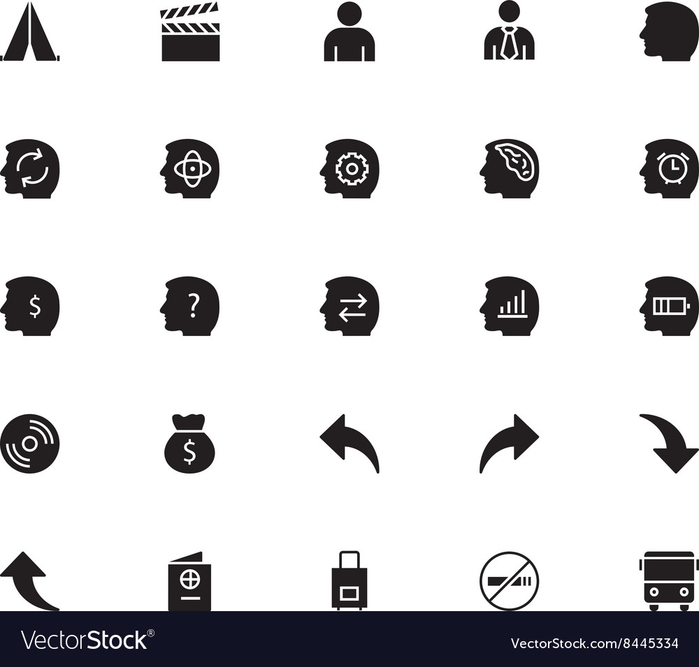 Universal mobile line icons 16 vector