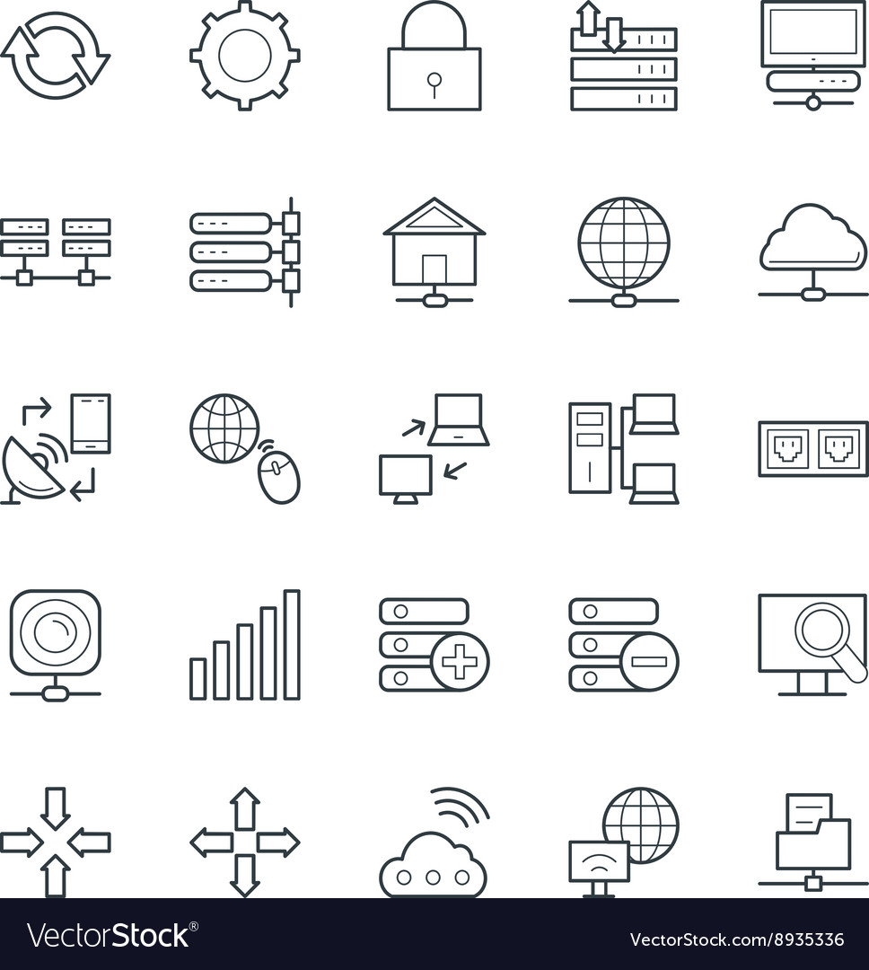 Networking cool icons 2 vector