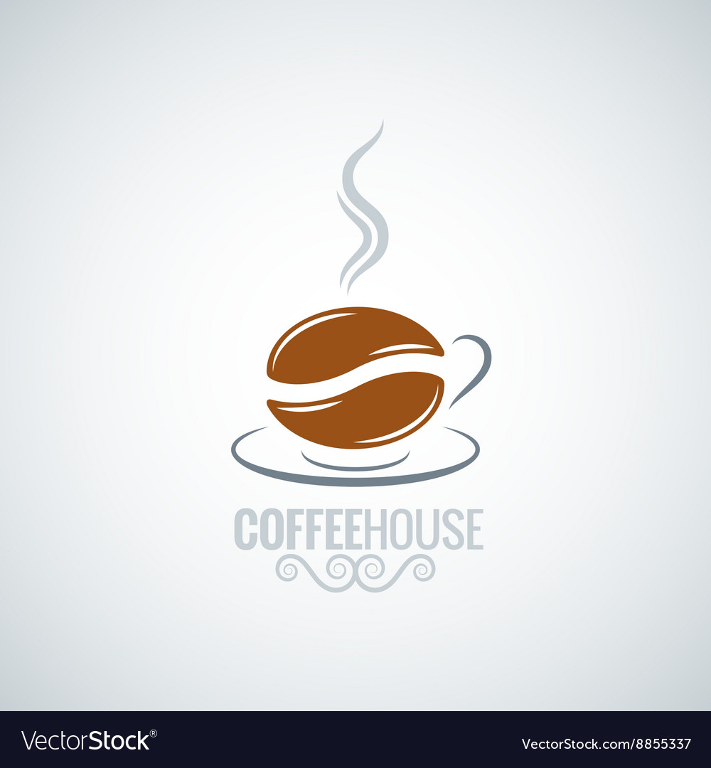 Coffee cup bean design background vector