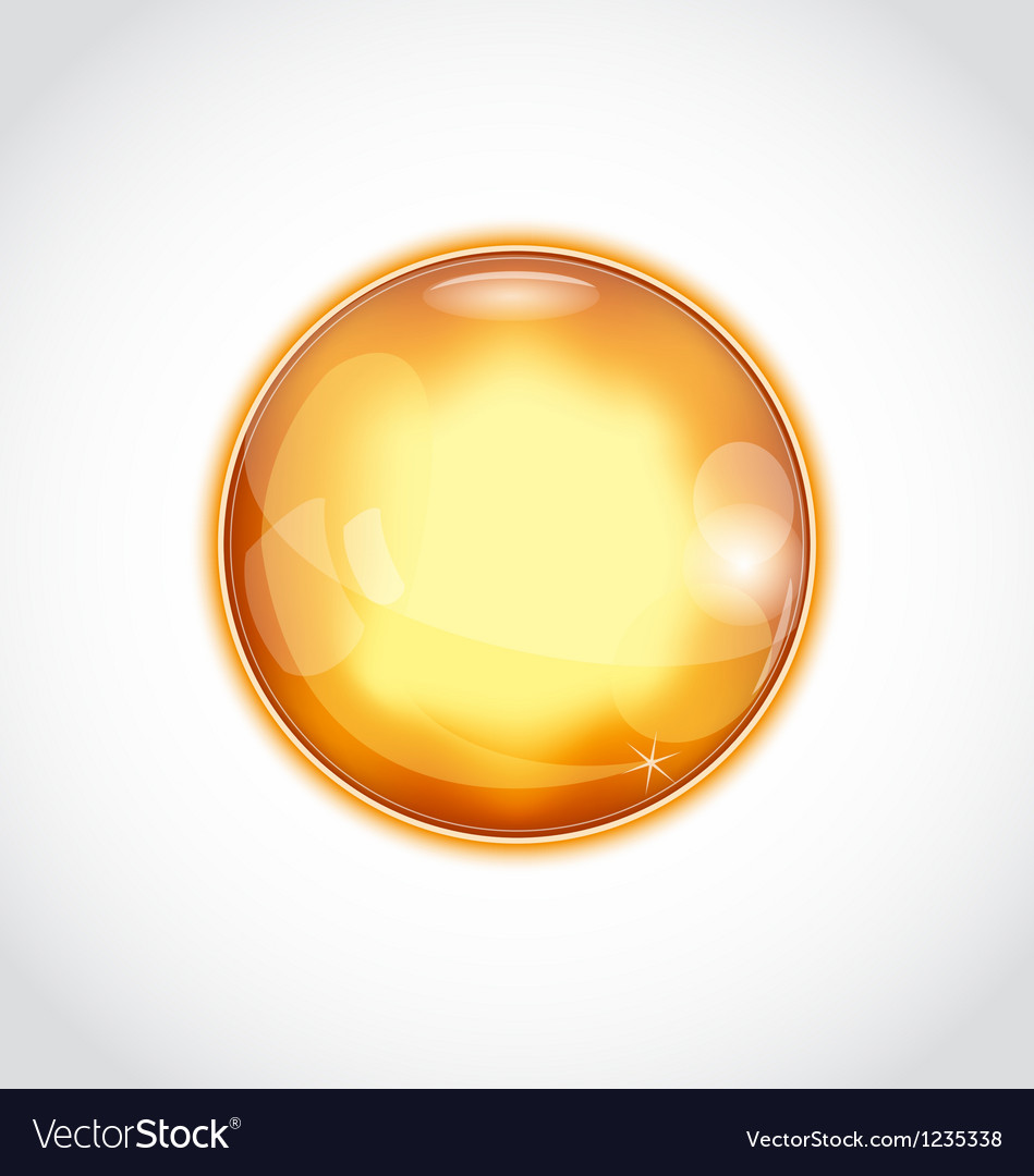 Abstract glass sphere isolated on white vector