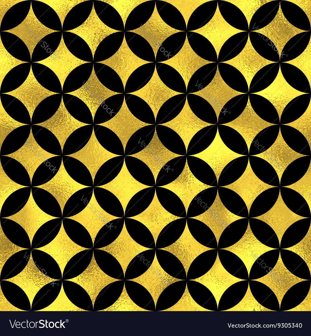 Abstract golden scaled seamless pattern vector