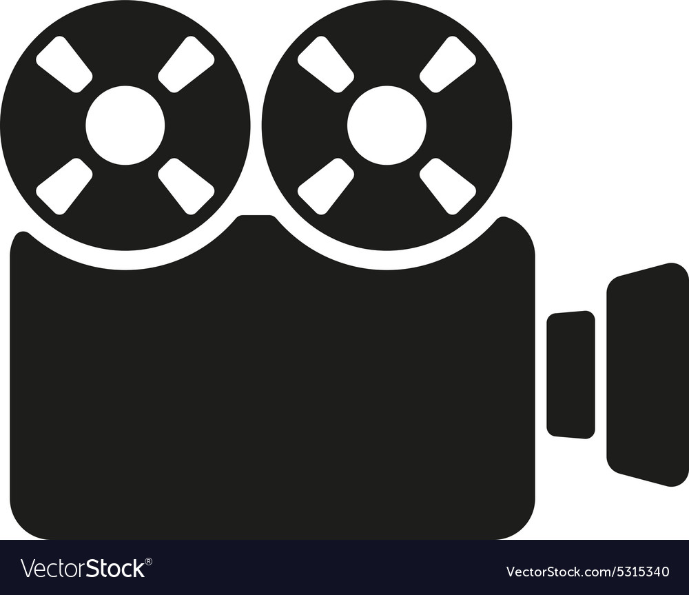 Video camera icon camcorder symbol flat vector