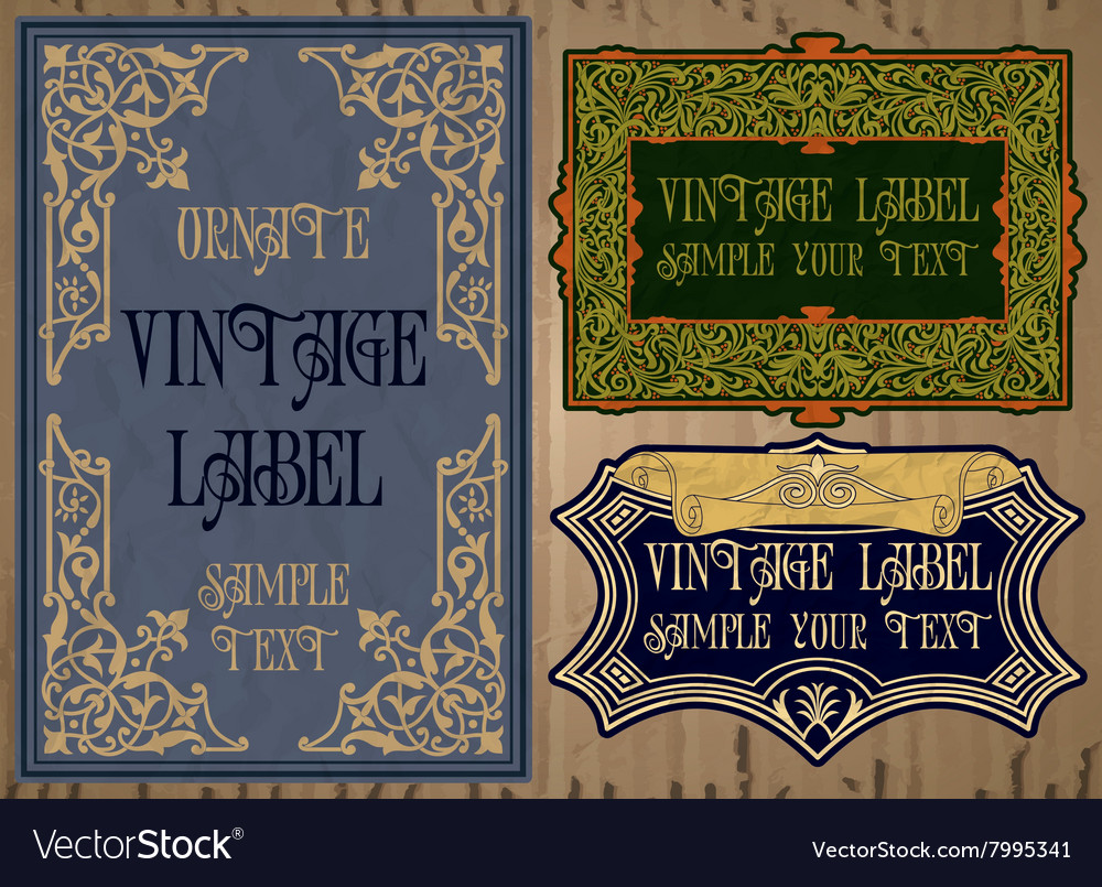 Vintage items  label vector