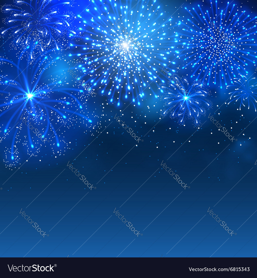 Firework blue vector