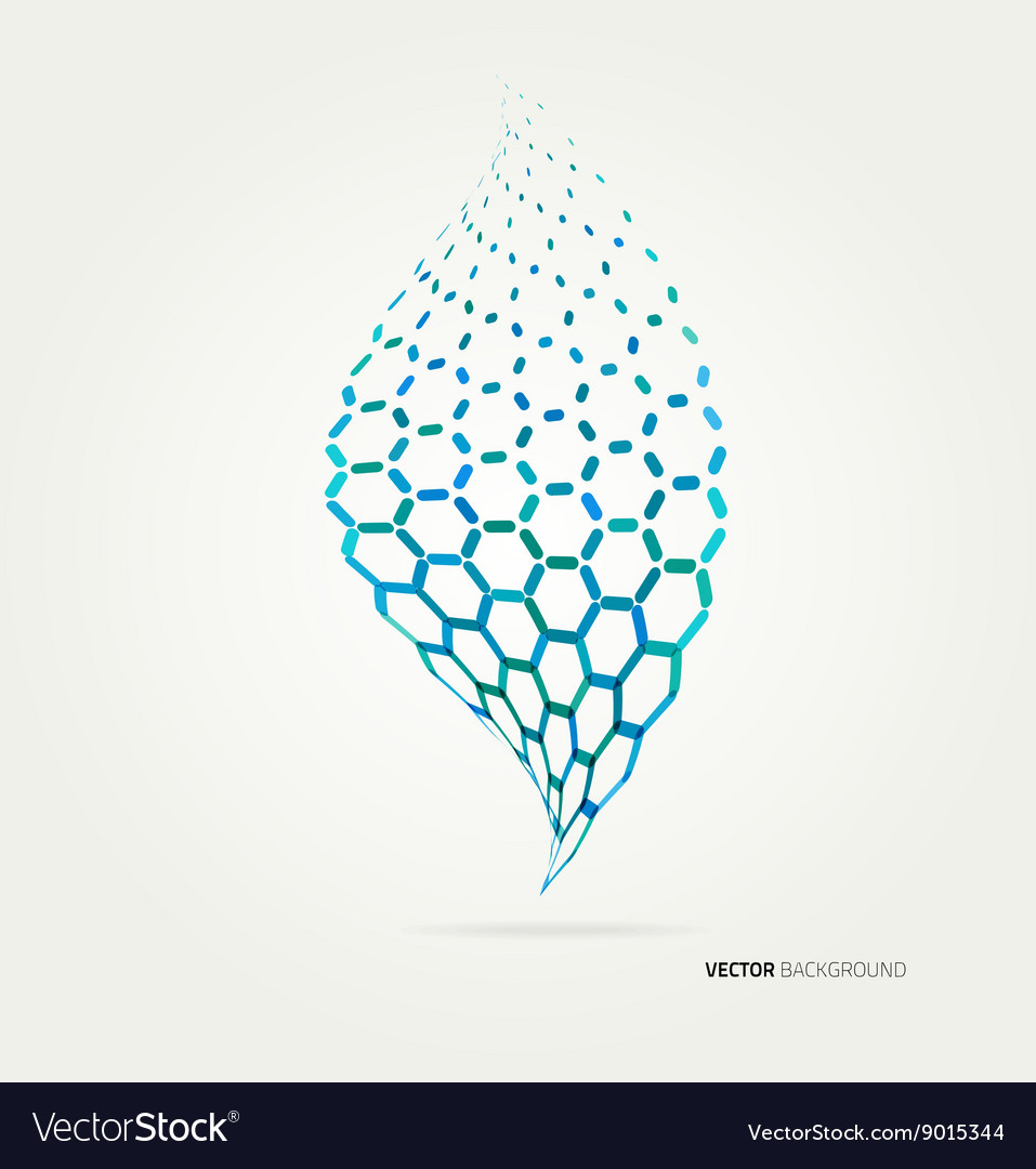 Abstract green sheet of hexagons vector