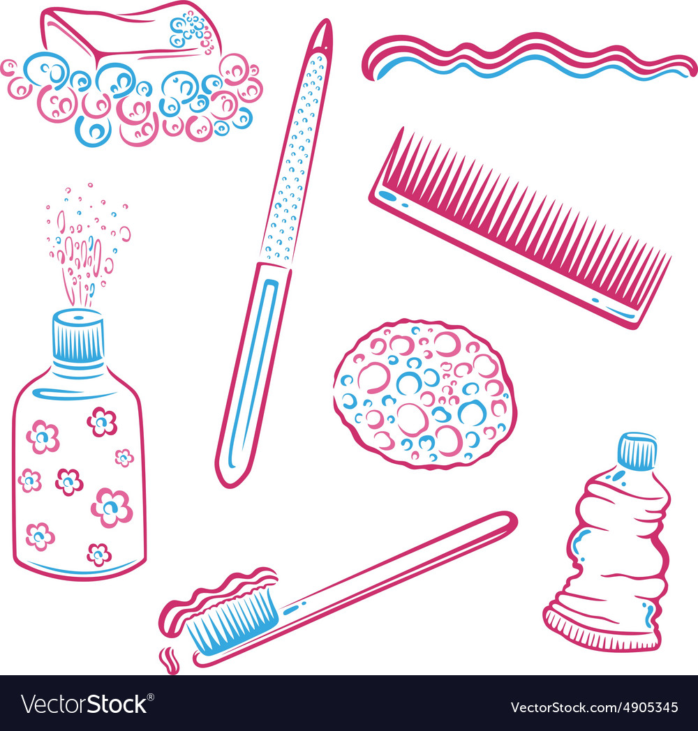 Hygienic cleaning vector
