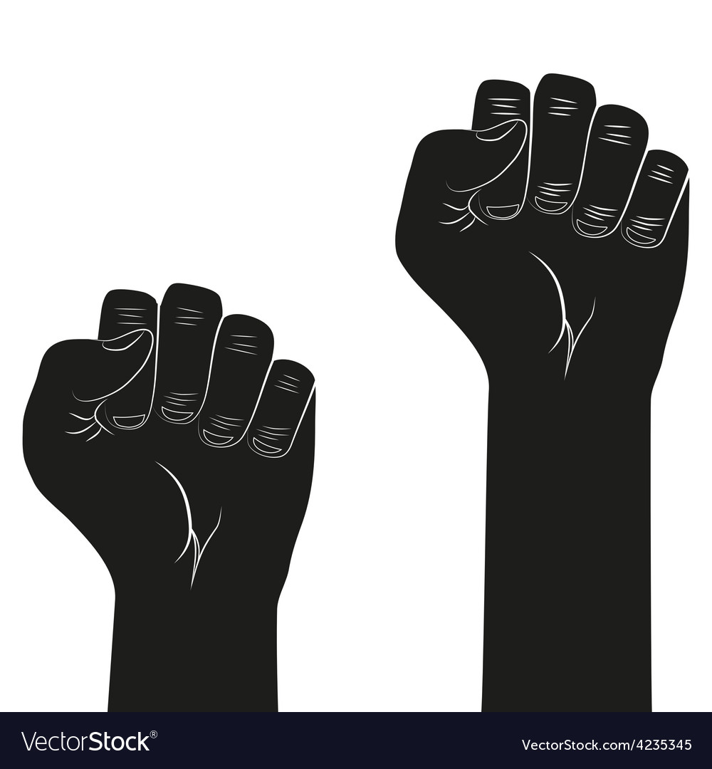 Symbol of clenched fist held in protest vector