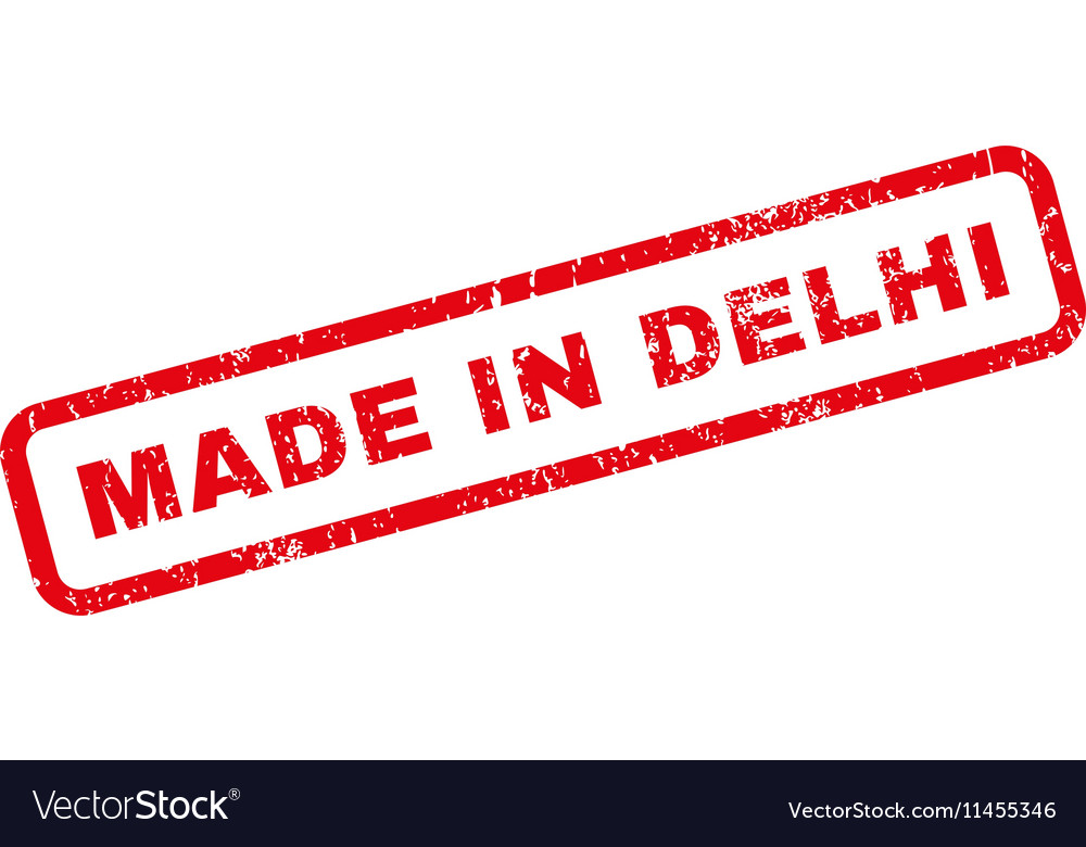 Made in delhi rubber stamp vector
